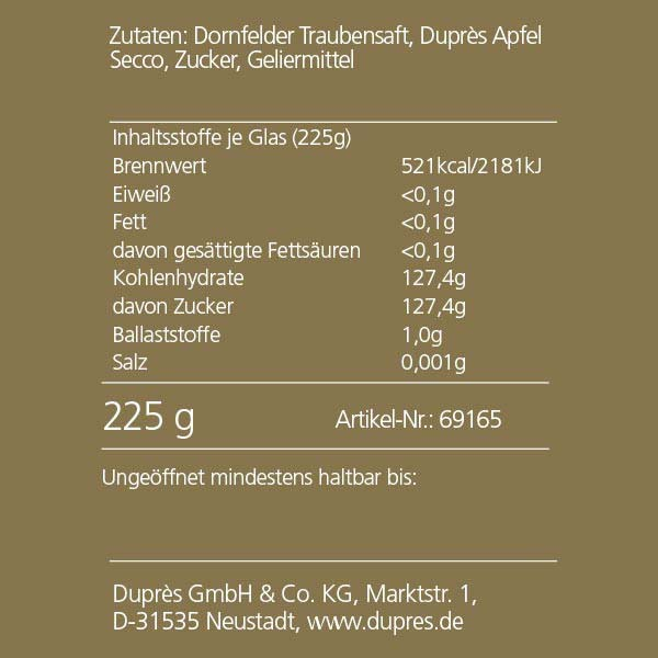 "Duprès Käse-Topping ""Ines Häubchen"""