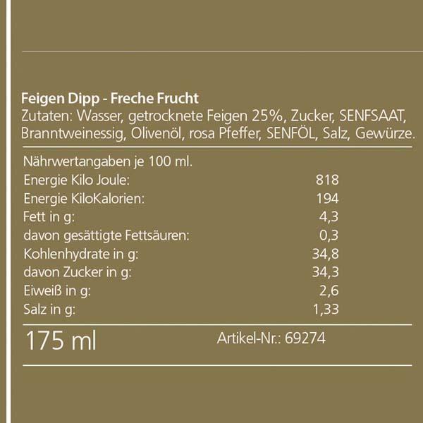 """Duprès """"Freche Frucht"""" Feigen Dip"""
