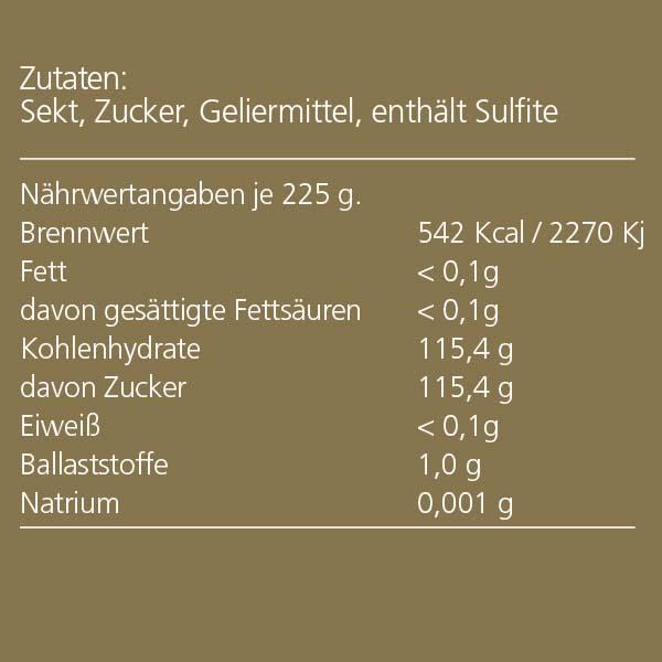 """Duprès Gelee """"Weißer Sekt"""""""
