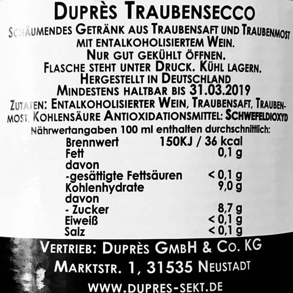 Duprès Traubensecco